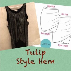 Reduced! ⬇️ Tulip Style Dress - Black and Silver